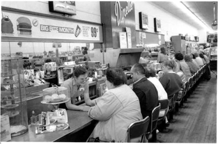 inside kresge lunch counter 1980s